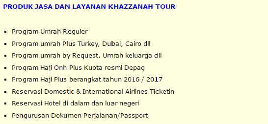 Produk Khazzanah Tour