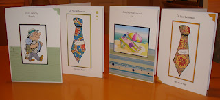 ... of term today, and it's sunny! Some retirement cards for men today