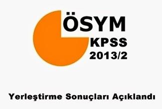 Kpss 2013/2 yerleştirme sonuçları açıklandı