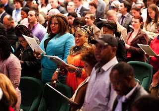 Immigrations becoming naturalized citizens in Dublin during a ceremony in May.