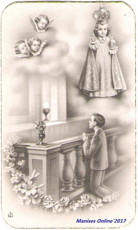 04.06.17 FIESTA AL NIÑO JESÚS DE PRAGA EN MANISES, EN EL AÑO 1967.