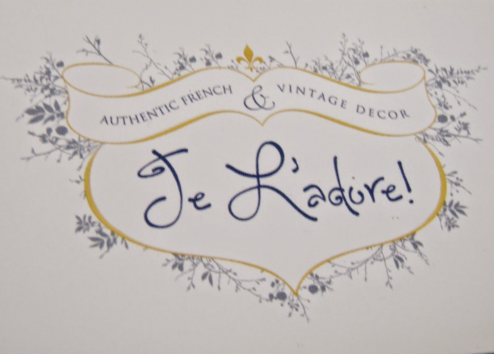 Cabin & Cottage is now at Je L'Adore! An Authentic French & Vintage Decor Boutique.