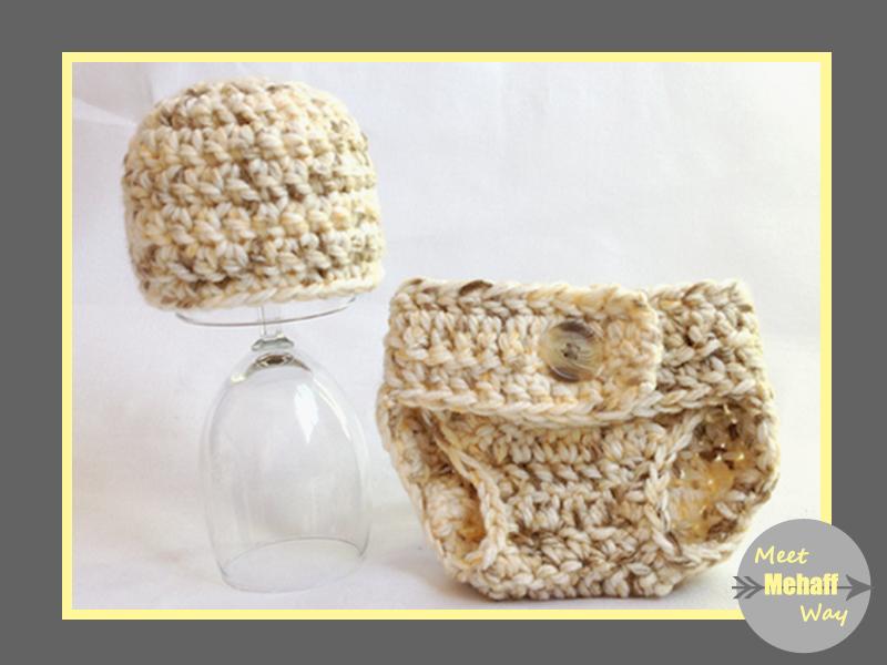 Meet Mehaff Way Pattern Easy Crochet Chunky Diaper Cover 0 3 Months