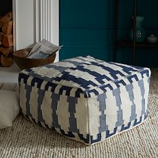 Pouf ottoman beautiful shop knitted pouf silver grey accent round free solutioingenieria Images