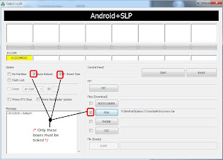 Samsung Galaxy S Dous Odin Step