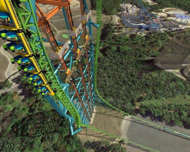 An amusement park in America is developing the world's biggest drop ride and at 415ft tall, it'll take some guts to have a go.