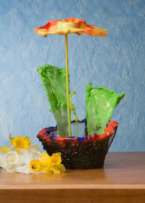 Jack Long fotografia esculturas líquidas flores de líquidos coloridos