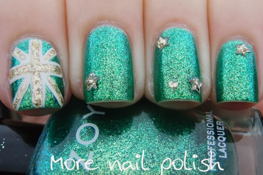 23 australia day nail art ideas more nail polish 5 green and gold australian flag prinsesfo Gallery