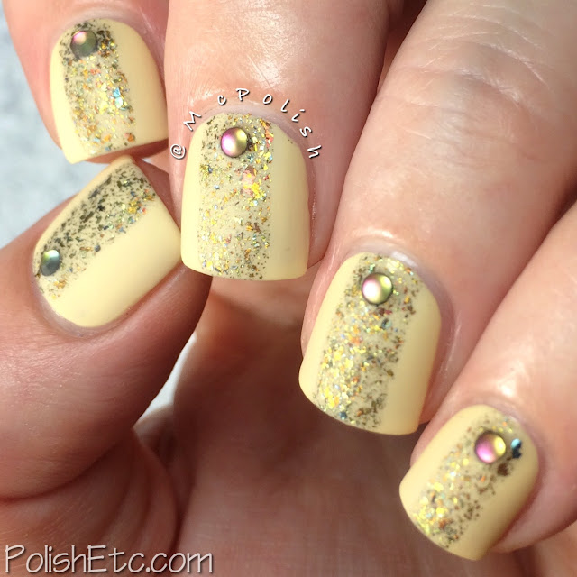 Day 3: Yellow Nails for #31dc2015 by McPolish - Glitter Daze 'Interstellar Dragon'