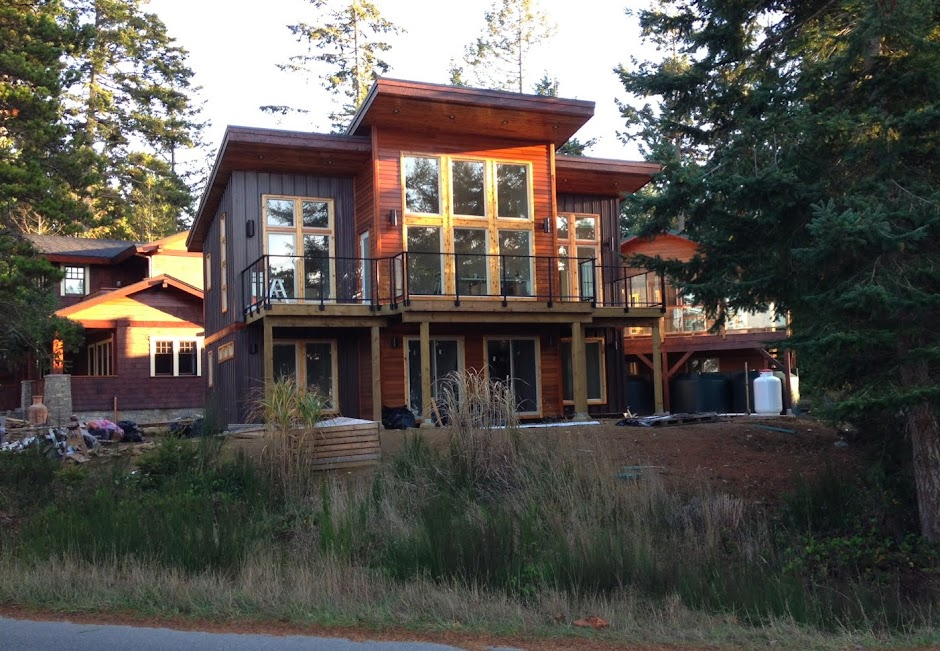 Construction Project On Gabriola Island, BC