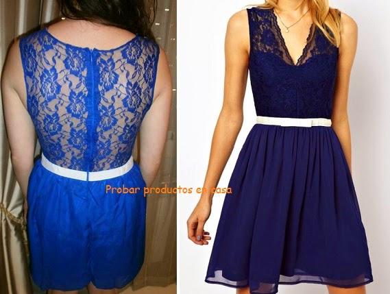Lenceria Sexy Marilyn: vestido azul