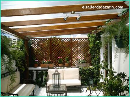 La madera en el hogar for Pergola jardin madera