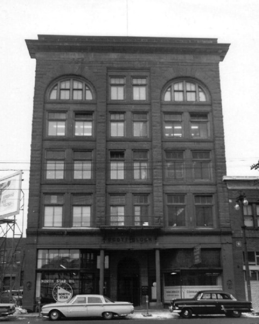 The Scott Block at 272 Main Street - Archival Photo