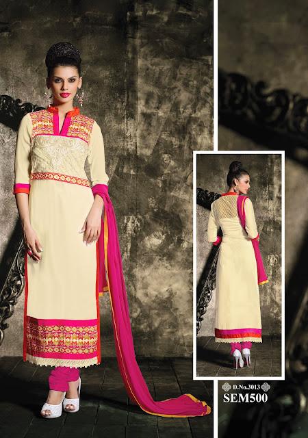 Online Shopping For Designer Georgette Long Salwar Kameez