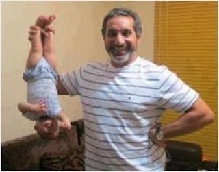 صور باسم يوسف مع ابنتة نادية +Bassem Yousef