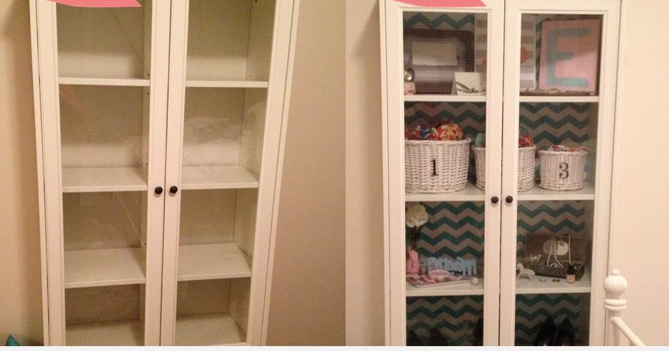 Easy IKEA Cabinet Makeover with shelf paper ~ Get Home ...
