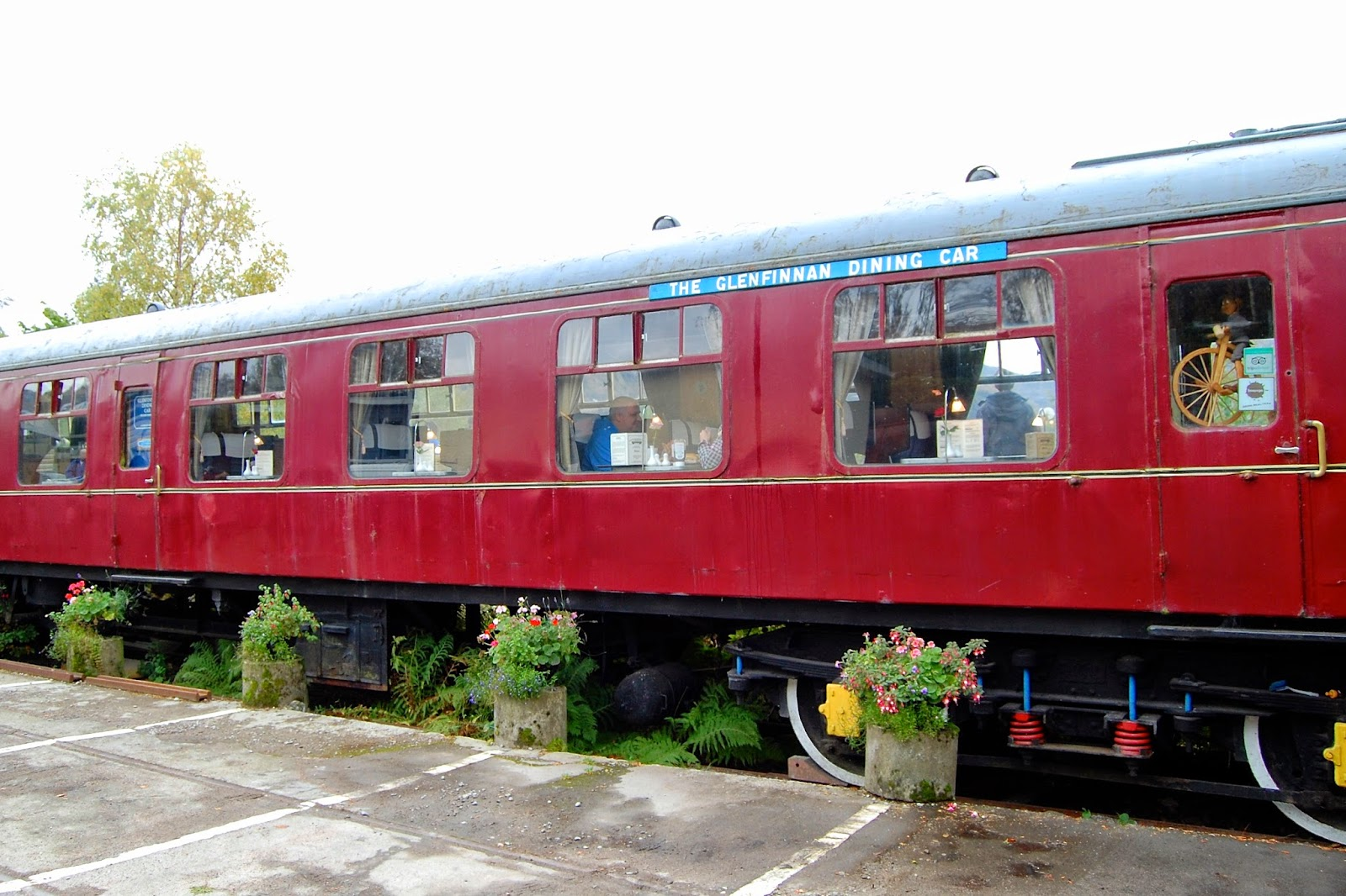 The Glenfinnan Dining Car at the Glenfinnan train station