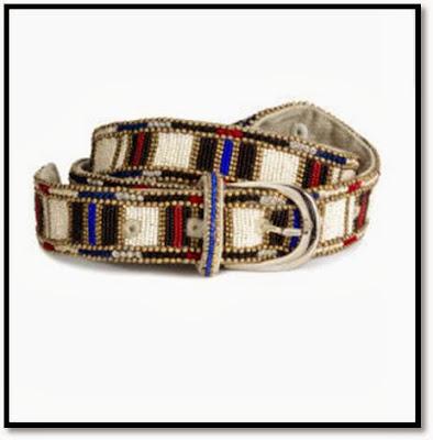 Collaboration H&M x Isabel Marant : Lookbook femmes ceintures perle motif massaï