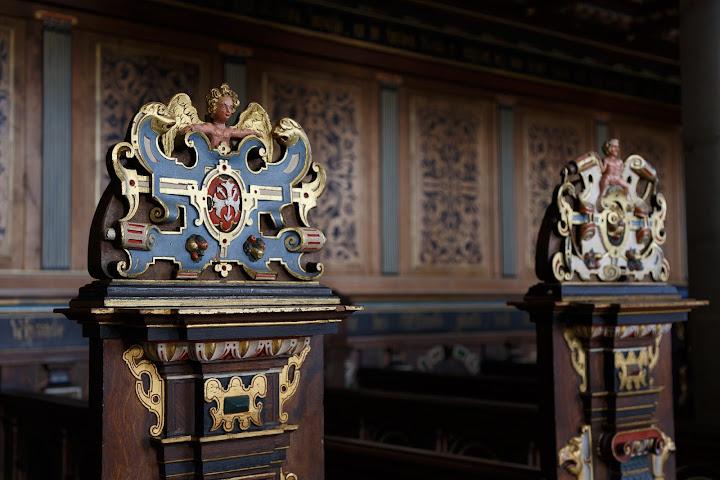 クロンボー城の礼拝堂にて