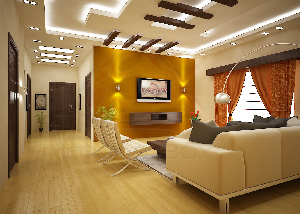 Fashion and interiors tv lounge designs for Interior decoration living room roof
