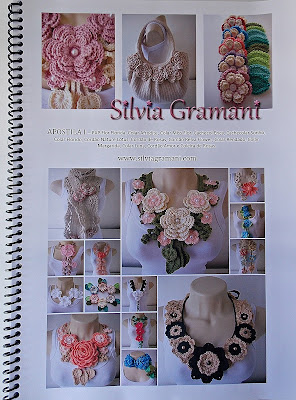 Como fazer colar de crochê com flores, gráficos de colares, gráfico de flores