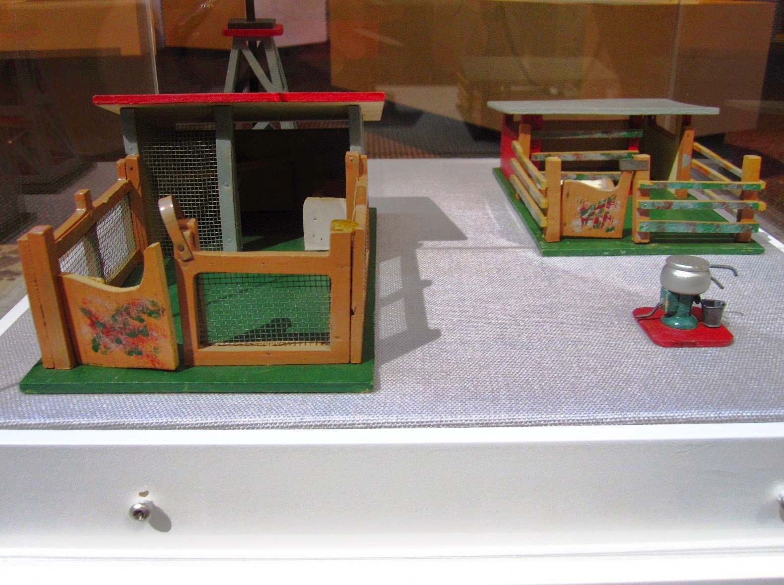 Vintage toy farm buildings from Sydney shop Walther & Stevenson.