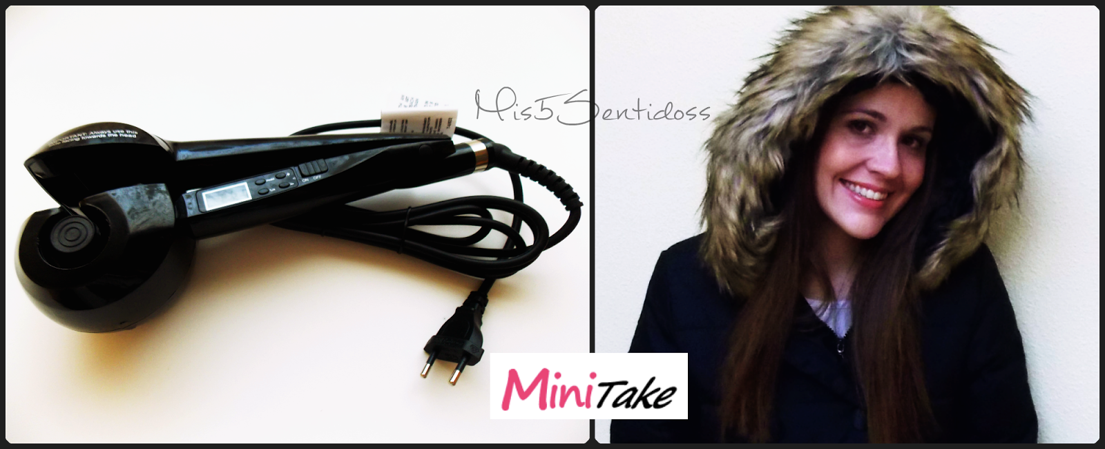 Minitake abrigo de plumas y rizador de pelo