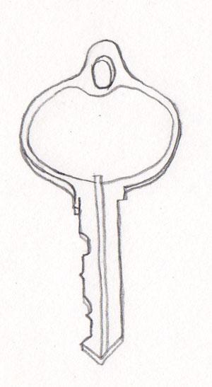 Line Drawing Key : Pen pencil paper—draw june