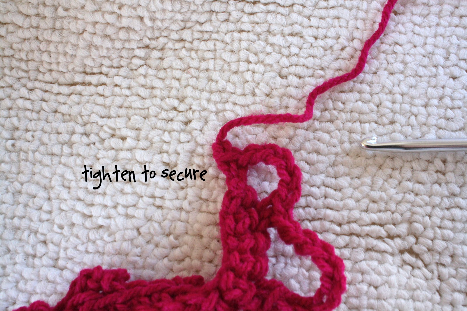 Crochet Fasten Off : How To Crochet a Heart: {Crochet Basics} Slip Stitch and Fastening Off