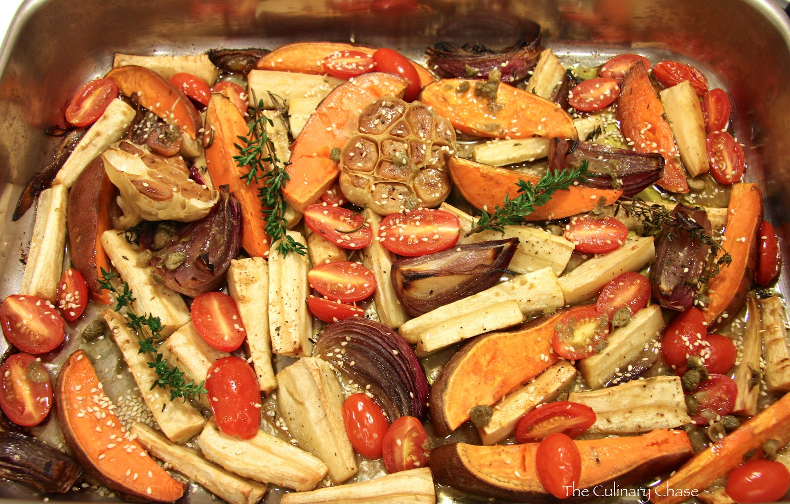 Roasted Parsnips & Sweet Potatoes with Caper Vinaigrette - The ...