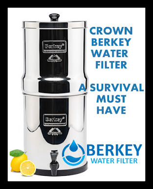 Crown Berkey Water Filter Six Gallon Premium Bundle: 2 Black BB9 Filters, 2 Fluoride PF2 Filters, 1