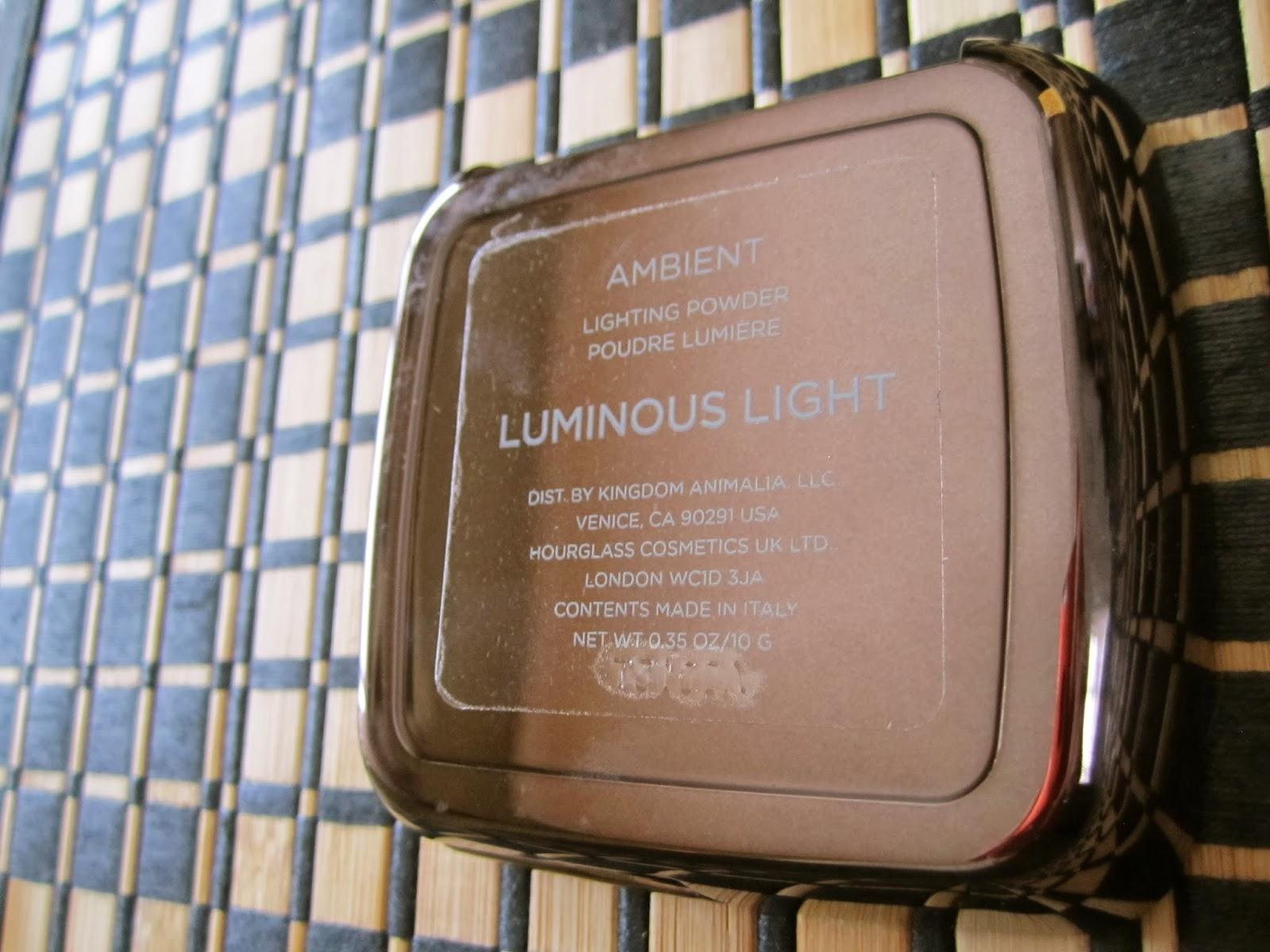 Hourglass Ambient Luminous Light, glowing skin, finishing powder, candlelit glow