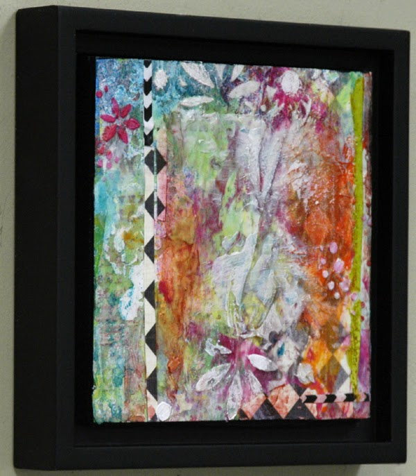 FAUX ENCAUSTIC MIXED MEDIA PAINTING