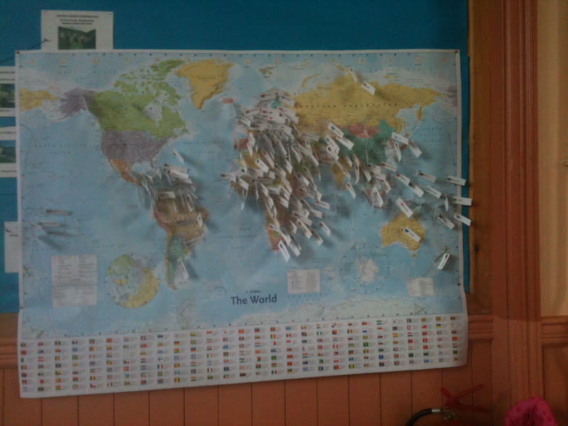 Pin Map of Participating Countries (Photo from Homeschool Escapade)