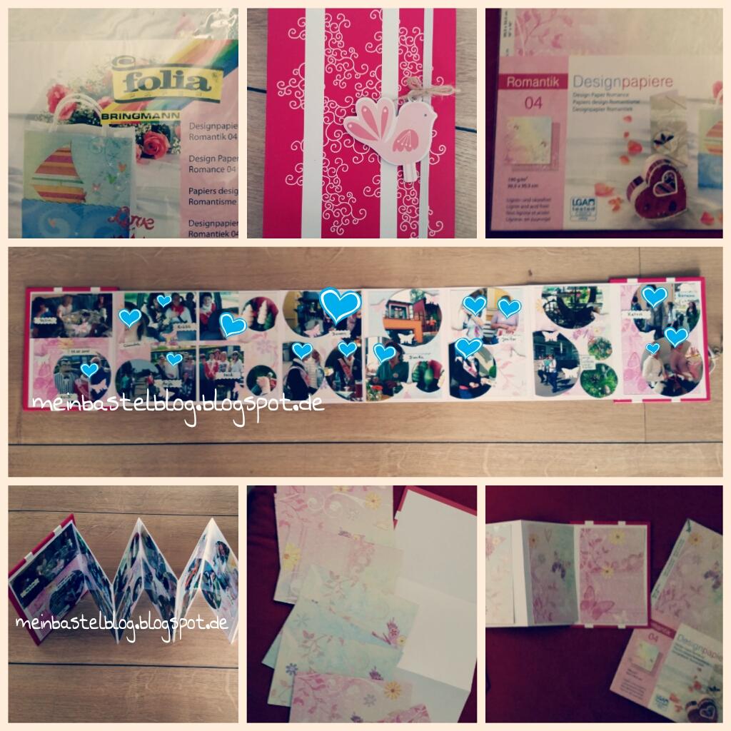 mein Bastelblog : kleines Fotoalbum - Leporello