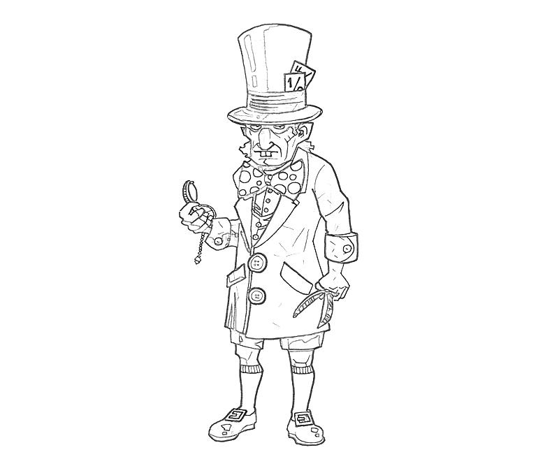 printable batman arkham city mad hatter funny_coloring pages - Batman Arkham City Coloring Pages