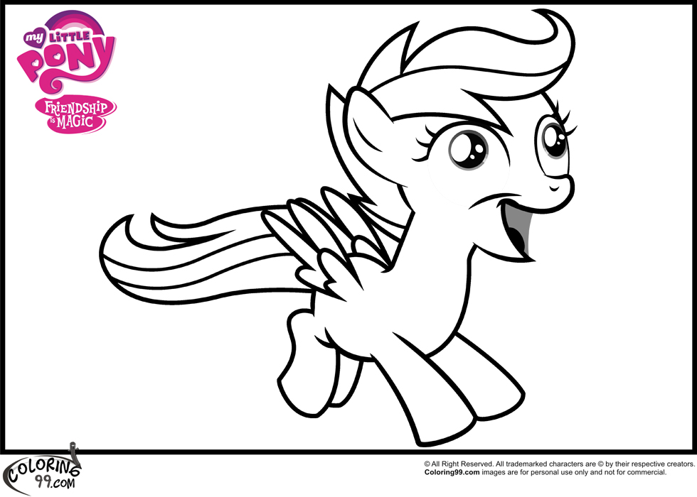 My Little Pony Scootaloo Coloring Pages : Mlp scootaloo coloring pages team colors