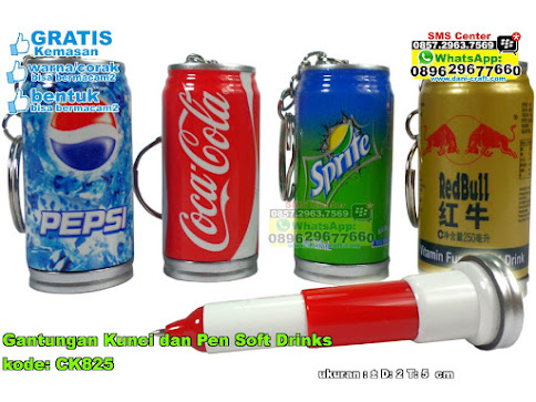 Gantungan Kunci Dan Pen Soft Drinks