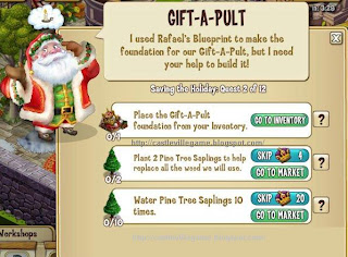 castleville game saving holiday gift a pult