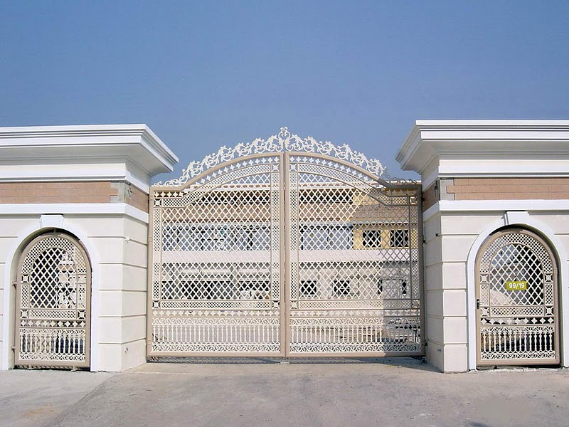 Design of the gate at the mansion modern home minimalist minimalist home dezine Dezine house