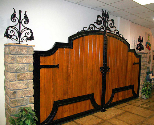 In Addition There Are Permanent Exterior Gate And Made From Materials Such As Wood Wrought Iron And Natural Stone For Classic Style House Suitable To