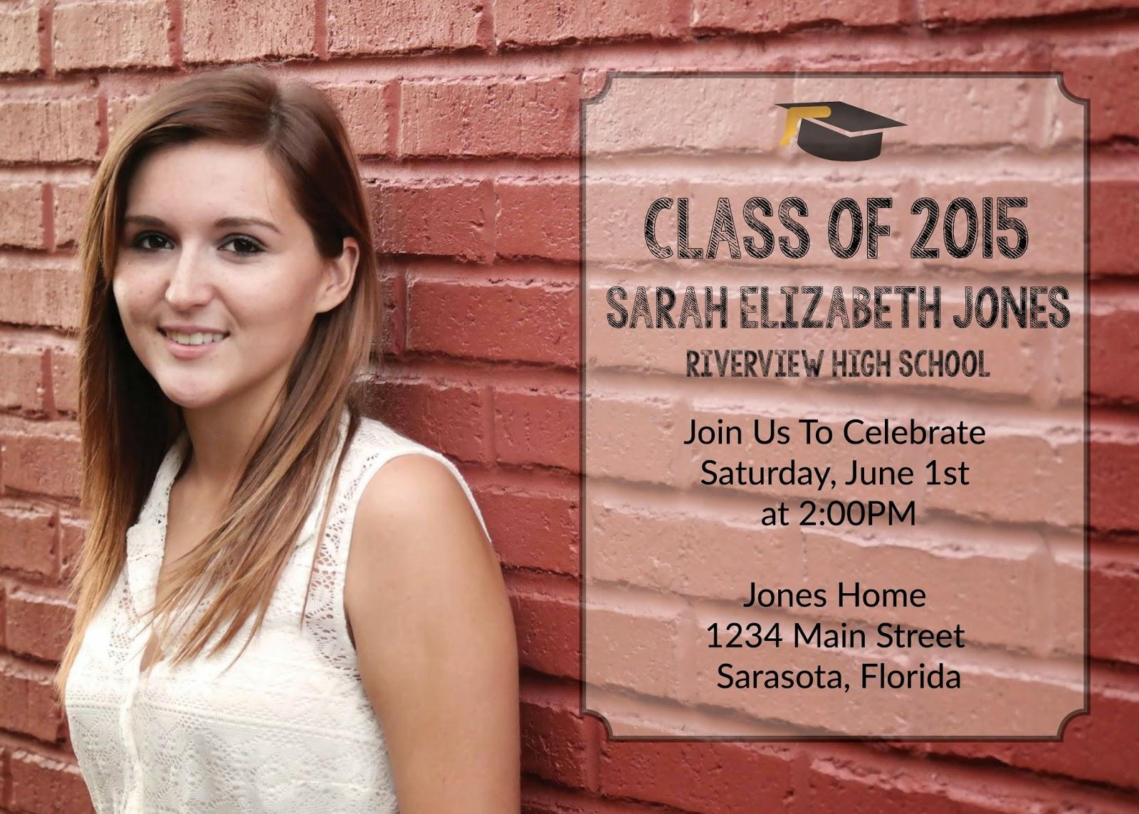 Class of 2015 Graduation Announcement