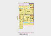 Golf Country, Yamuna Expressway :: Floor Plans,Golf Villa (150 sq. yd.):- First Floor Plan Plot Area: 995.36 Sq. Ft.