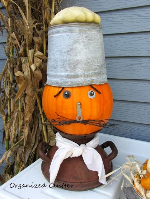 Junk Pumpkin Chef www.organizedclutterqueen.blogspot.com