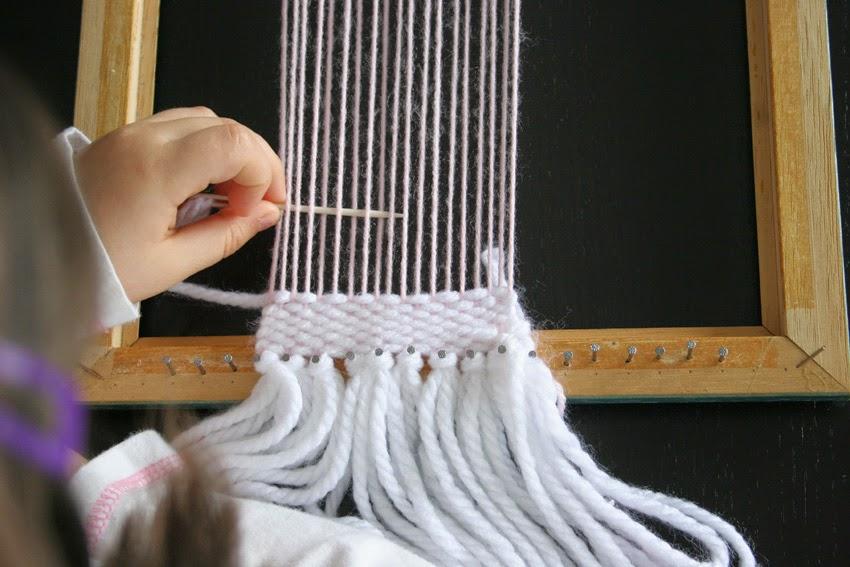 tejiendo en un telar diy6