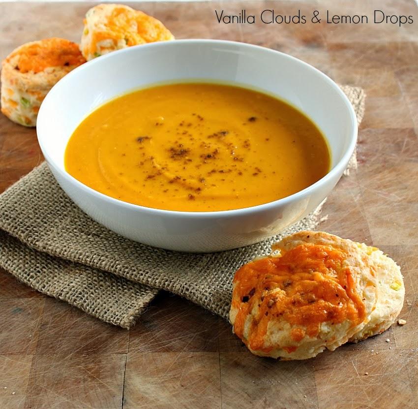 Vanilla Clouds and Lemon DropsCurried Sweet Potato  Squash Soup