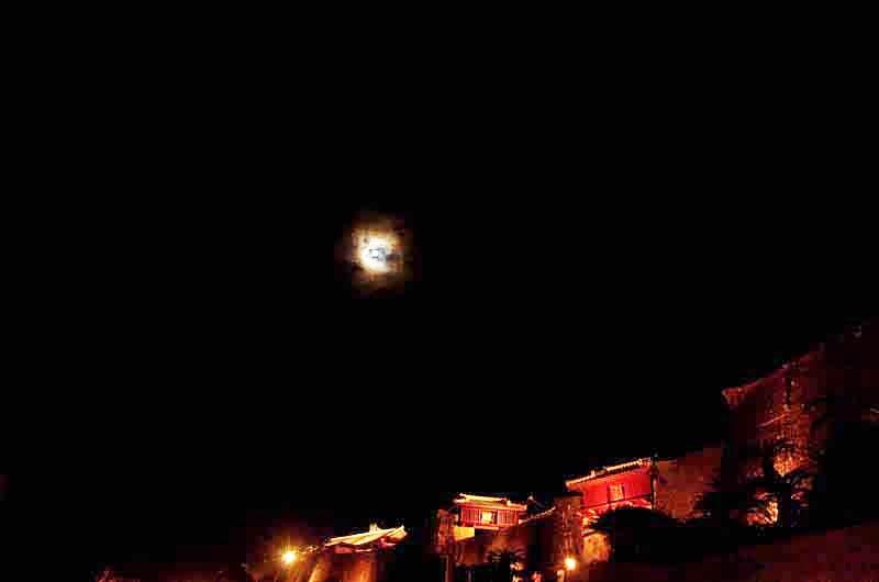 moon, castle buildings,UNESCO