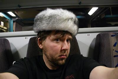 Berlin Ian in a fur hat