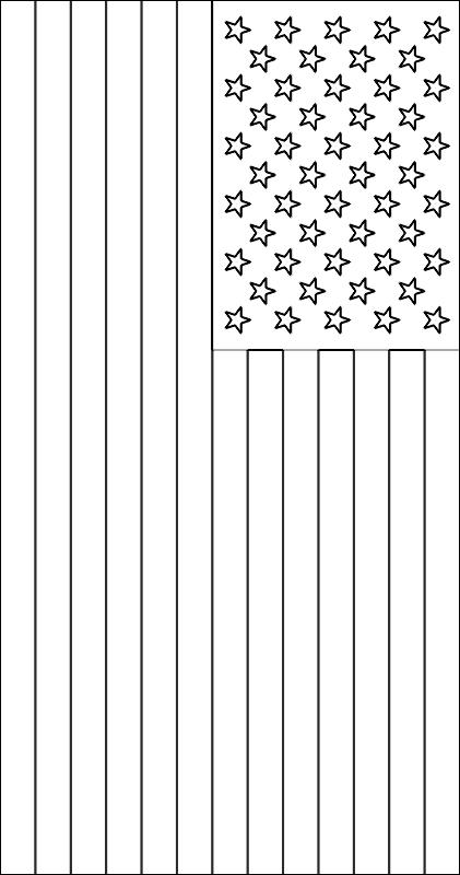 colorear bandera de Los Estados Unidos para imprimir