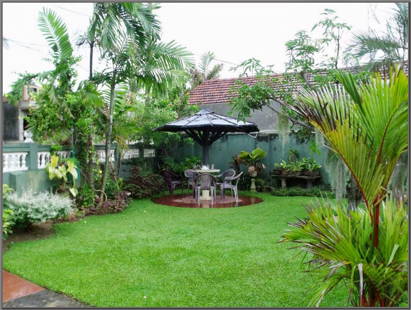 Rumah Minimalis Dengan Taman Belakang Gambar Om